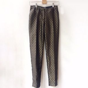 H&M Metallic Straight Leg Pant, Geometric Print